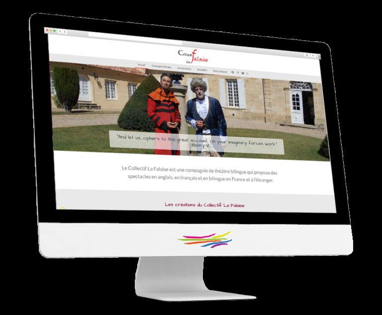 Site web du Collectif La Falaise par SoMyWeb