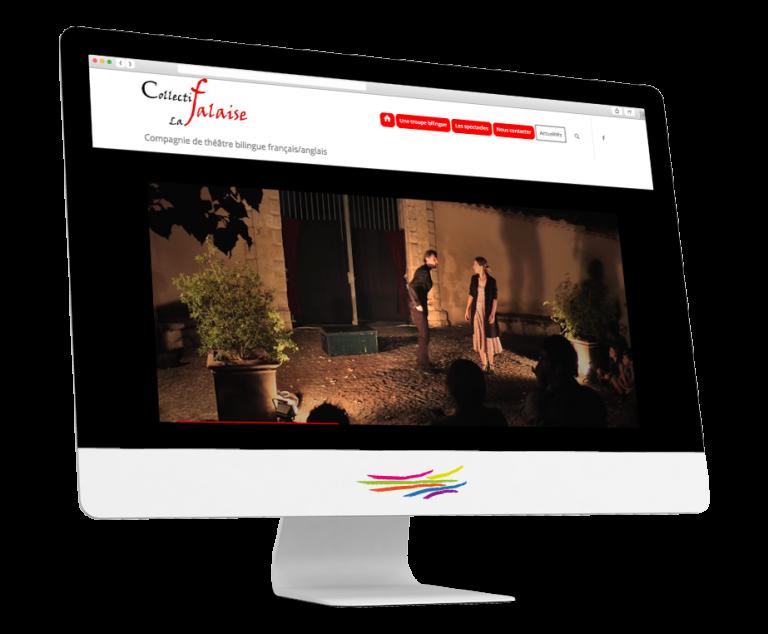 Site WordPress pour la troupe de théâtre La Falaise