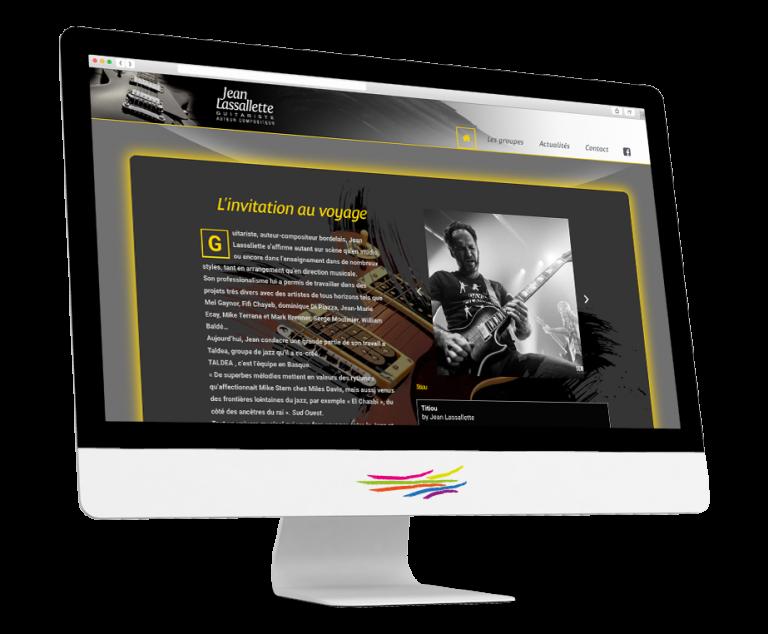 Site WordPress pour le musicien Jean Lassallette