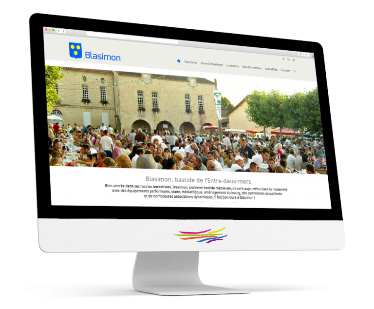 Site WordPress pour la commune de Blasimon