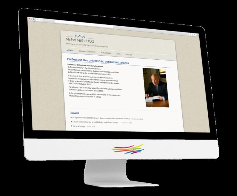 Site WordPress pour Michel Menjucq