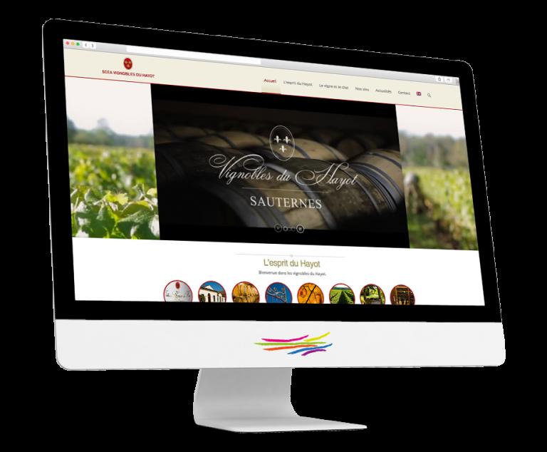 Site WordPress pour le Domaine du Hayot