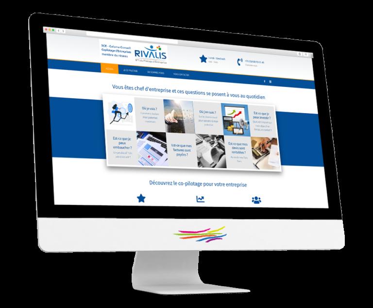 Site web de la société Caluma, conseil et copilotage d'entreprises - 3CE
